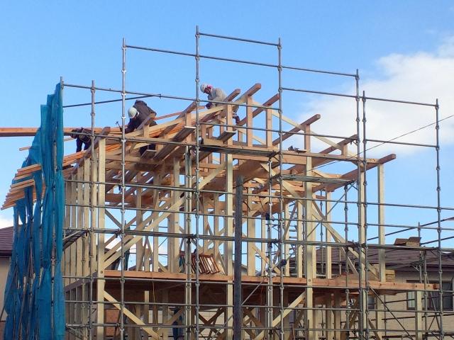 写真AC 建築現場 山梨 躯体 木造建築 リフォーム