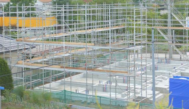 写真AC 大型建設 基礎 山梨 地盤改良