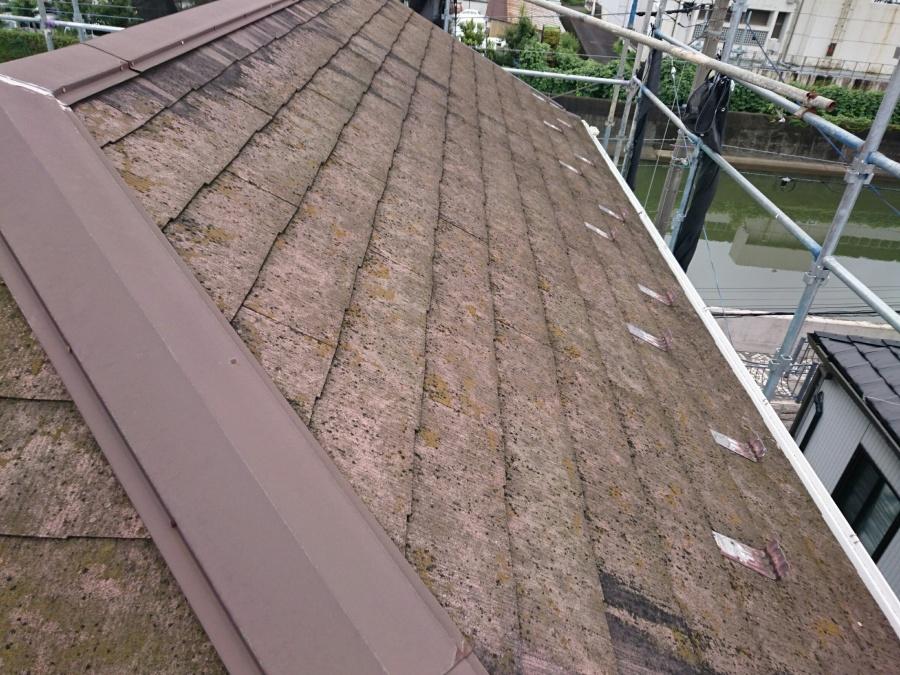 足場 屋根カバー工法