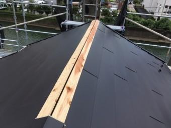 屋根カバー工法 上棟