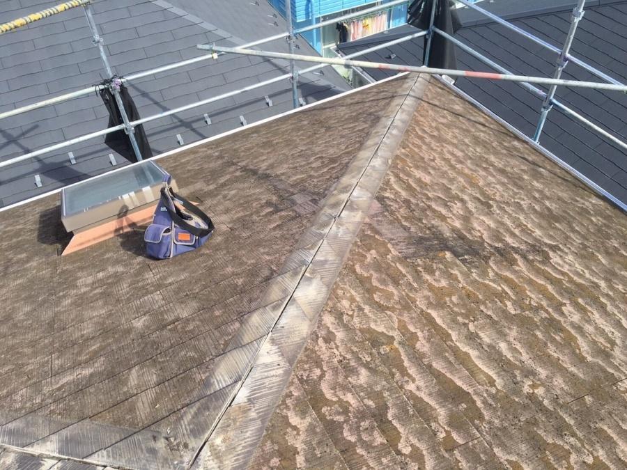 屋根カバー工法 棟 解体