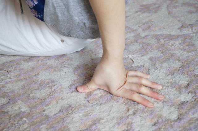 写真AC 絨毯と手 カーペット