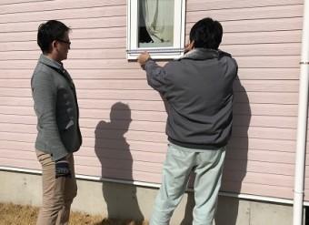 外壁塗装 サッシ計測