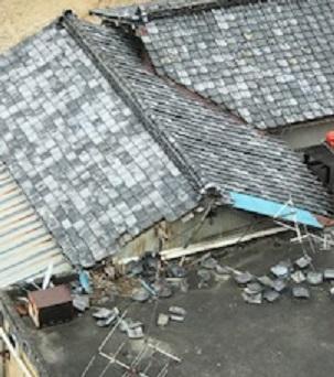 屋根 瓦倒壊