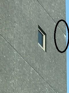 外壁タイル 白華2