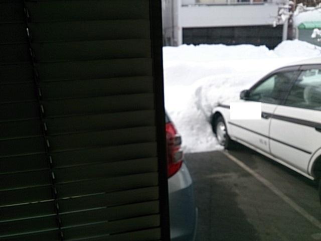 2014年 大雪 駐車場