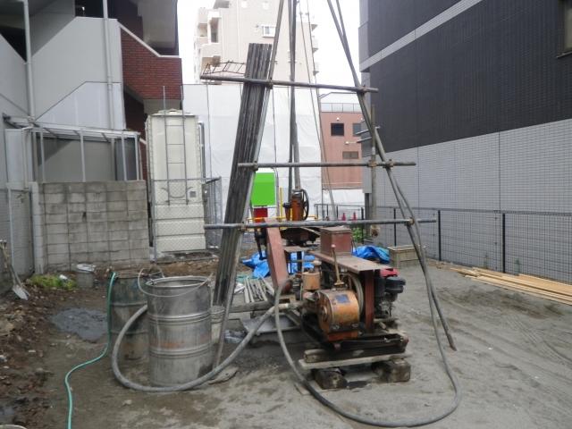 写真AC 地盤調査 ボーリング調査 地耐力 山梨