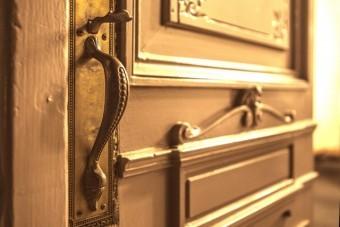 写真AC ドアを開いて サムラッチ錠