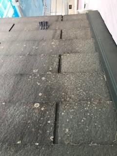 洗浄前 北屋根
