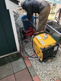 塗装前洗浄 高圧ポンプ洗浄機