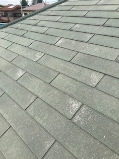 屋根工事 洗浄後