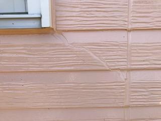 外壁材割れ 補修後