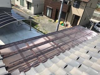 バルコニー屋根 完成