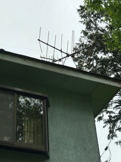 TVアンテナ 撤収