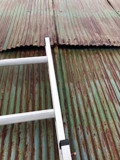 トタン屋根 補修前