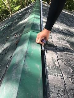屋根カバー工法 計測
