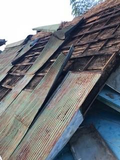 トタン屋根 台風災害