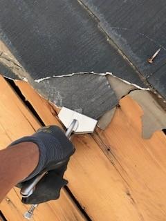 スレート材屋根 補修