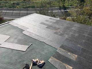 スレート 屋根 補修