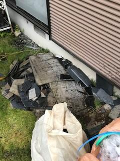屋根工事 清掃