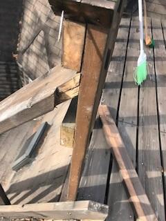 ウッドデッキ階段 修理