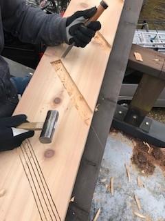 ウッドデッキ階段 改修工事