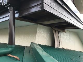 軒天井 補修工事