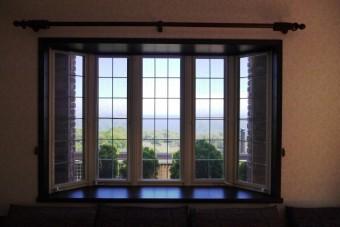 写真AC 出窓 出窓越しの海