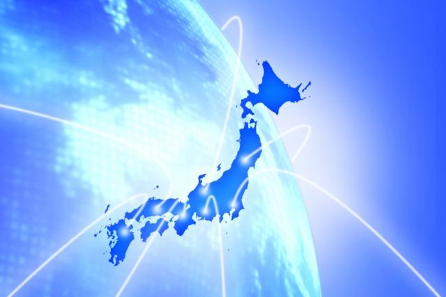 写真AC 日本地図と地球