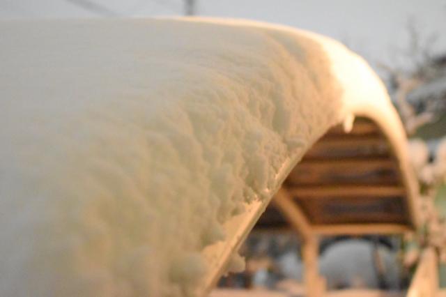 写真AC カーポートの雪
