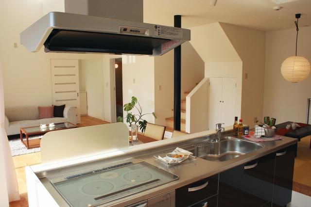 写真AC システムキッチン 換気扇 IHクッキングヒーター